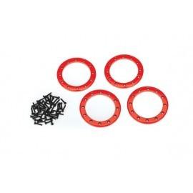 Beadlock rings red(2.2) (aluminum)(4)2x10 CS (48)