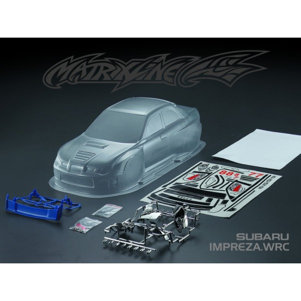 """MATRIXLINE WRC CLEAR BODY 190mm w/ACCESSORIES"