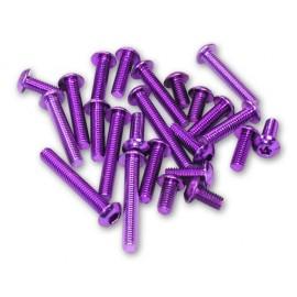 Color Screw Round Head 3x10mm hex Purple (4pcs) 7075AL