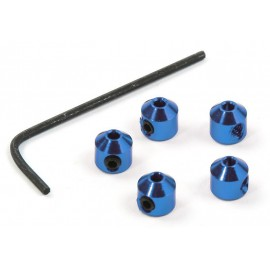Aluminium Stopper 2mm Blue (5pcs.)