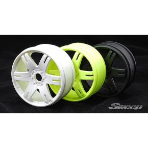 Sweep 6ix Pak 1:8 buggy wheel Yellow 4pcs