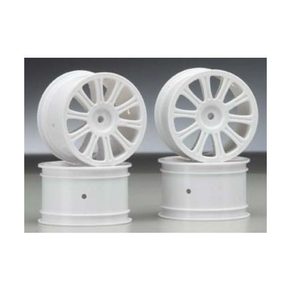 Rulux - 1/10th RC10B4 rear wheel (white) - 4pc