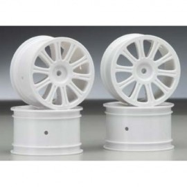 Rulux - 1/10th RC10B4 rear wheel (white) - 4pc