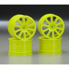 Rulux - 1/10th RC10B4 rear wheel (yellow) - 4pc