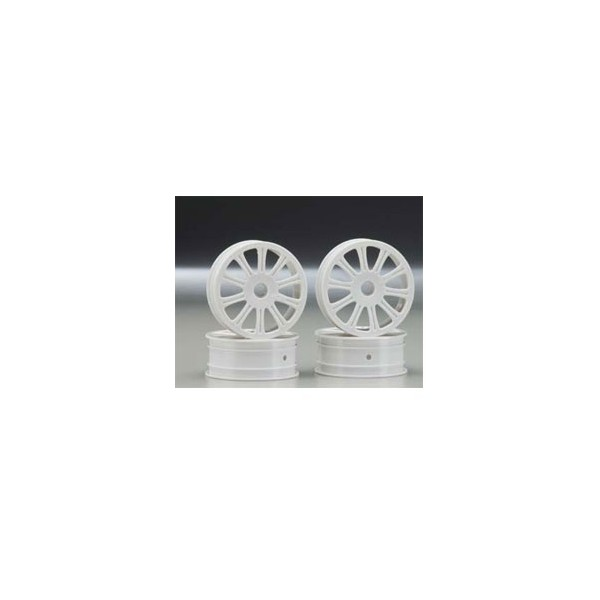 Rulux - 1/10th RC10B4 front wheel (white) - 4pc