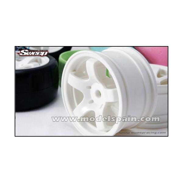 Sweep Minis 5spoke Wheel Type A White  (4wheels)