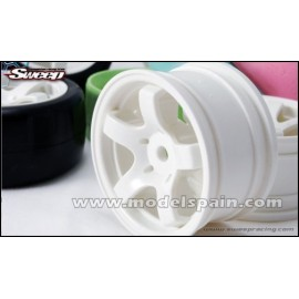 Sweep Minis 5spoke Wheel Type A White  (4wheels)