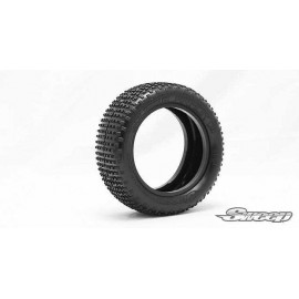 SQUARE ARMOR Front Silver (Ultra Soft) 1:10 buggy tires/inserts 2pcs
