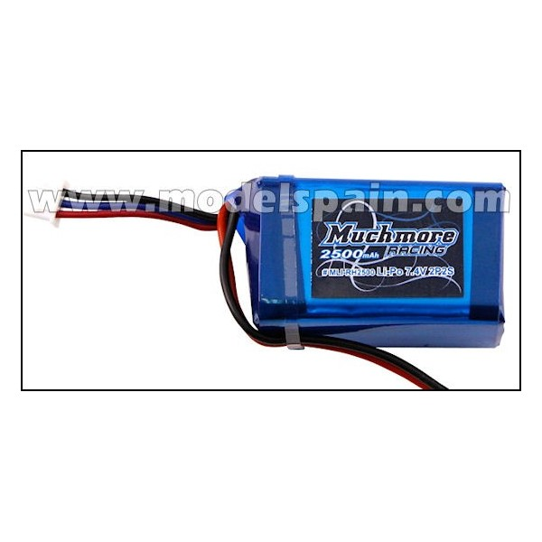 Much More Li-Po Battery 2500mAh/7.4V Hmp Size for Receiver
