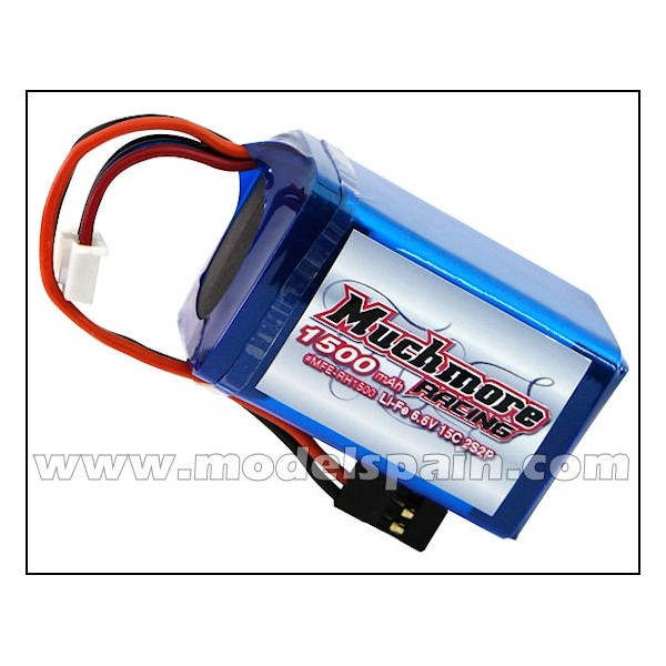 Much More Li-Fe Battery 1500mAh/6.6V 15C Hmp Size for Receiver