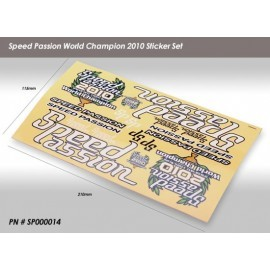 Speed Passion World Champion 2010 Sticker Set