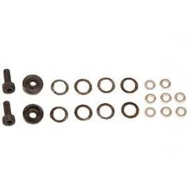 Screw / washer set for clutch bells