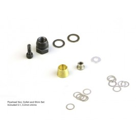 Flywheel Nut, Collet and Shim Set