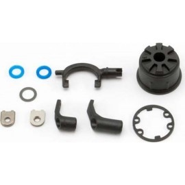 Carrier, differential (heavy duty)/ differential fork/ linkage arms (front & rear)/x-ring gaskets (2)/ ring gear gasket