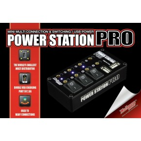 Power Station Pro Multi Distributor Black (with 2A Two USB Charging port)