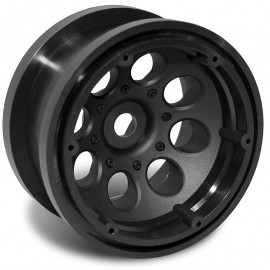 "AXIAL 2.2"" 8 HOLE BEADLOCK WHEELS (BLACK) (12MM) (2 UNDS)"