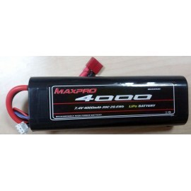 MAXPRO Li-Po 35C 7,4V 4000mAh 2S (Caja redonda)