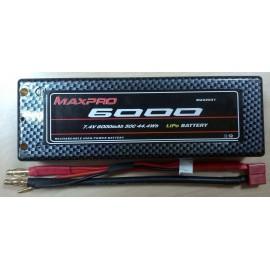 MAXPRO Li-Po 50C 7,4V 6000mAh 2S (Caja dura)