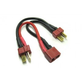 DEANS 2S BATTERY HARNESS FOR 2 PACKS IN PARALLEL 14AWG SILICI