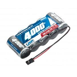 Batería 6,0V-4000mAh NiMH XTEC 1/5 RX   SubC - JR - recta