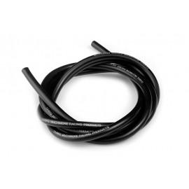 14 AWG Silver Wire - Black 90cm