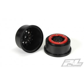 PROLINE PROTRAC F-11 2.2/3.0 RED/BLK BEADLOC WHEEL