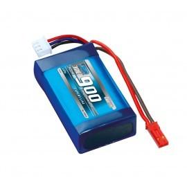 Batería 7,4V-900mAh LiPo 30C
