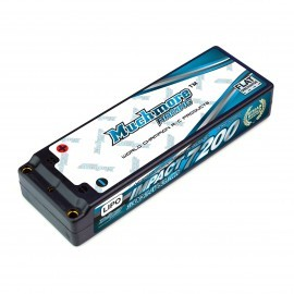 IMPACT FD2 Li-Po Battery 7200mAh/7.4V 100C Flat Hard Case