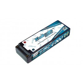 IMPACT Stock Power Li-Po Battery 6000mAh/7.4V 80C Flat Hard Case