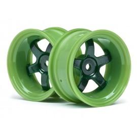 Llantas 1/10 Work Meister S1 verdes (9mm Off) (2pzs)