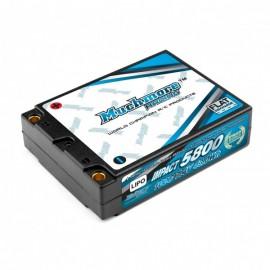 IMPACT FD Li-Po Battery 4600mAh/7.4V 80C Shorty Flat Hard Case