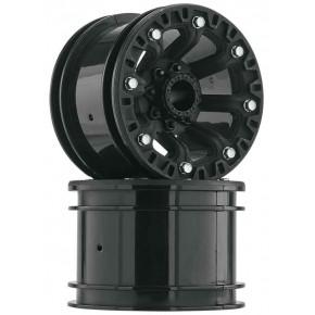 """2.2"""" 8-Spoke Wheel Black..."""