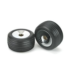 Rear Tires & Wheels, Glued:...