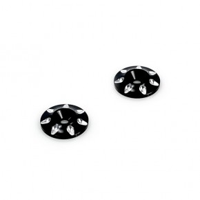 Aluminium Wing Washer Ver.2 Black (2pcs)