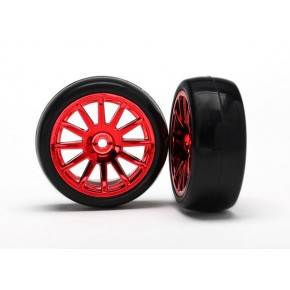 12-Sp Red Wheels, Slick...