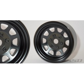 1.9 Steel Stock Beadlock Wheels (Black)