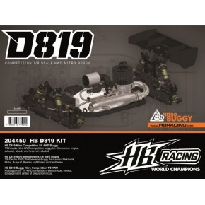 HB RACING D819 1/8 Competition Nitro Buggy