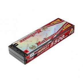 IMPACT  Silicon Graphene Super LCG HV FD4 Li-Po Battery 5500mAh 7.6V 130C Flat Hard Case