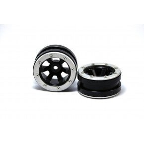 Beadlock Wheels PT- Claw Black/Silver 1.9 (2 pcs)