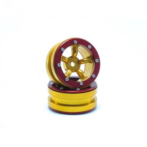Beadlock Wheels PT-Safari Gold/Red 1.9