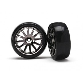 12-Sp Blk Wheels, Slick...