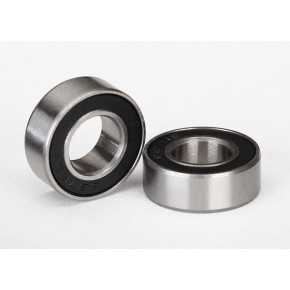 Ball bearings, black rubber...