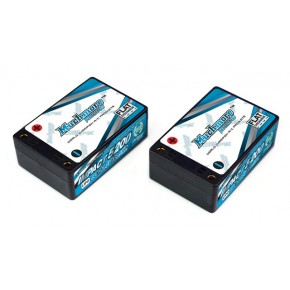 IMPACT FD2 Li-Po Battery 5200mAh/7.4V 80C Low Height Saddle Hard Case